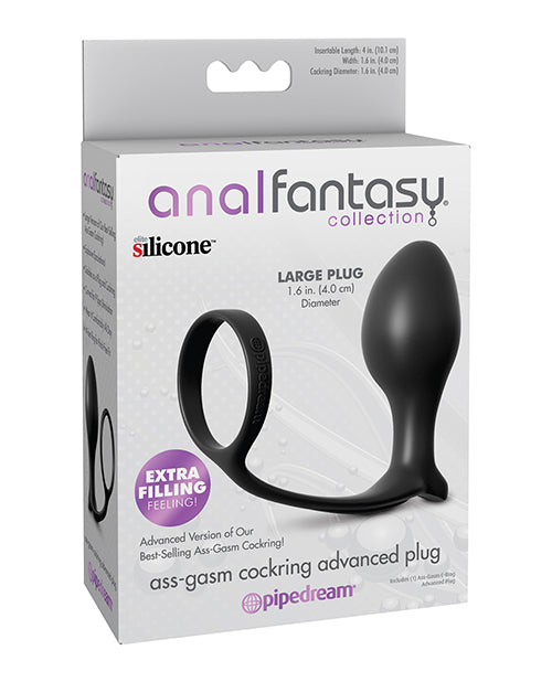 Anal Fantasy Collection Ass Gasm Advanced Plug w/Cockring