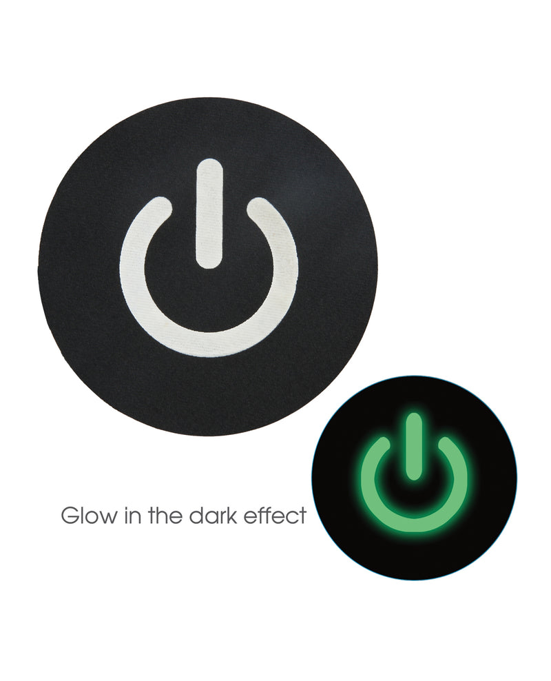 Peekaboos Glow in the Dark Power Button - Pack of 2