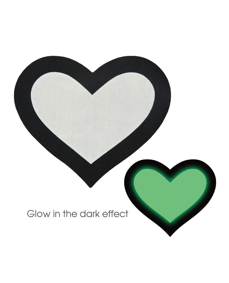 Peekaboo Glow in the Dark Hearts - Pack of 2