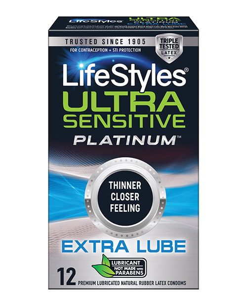 Ultra Sensitive Platinum Extra Lube - Pack of 12