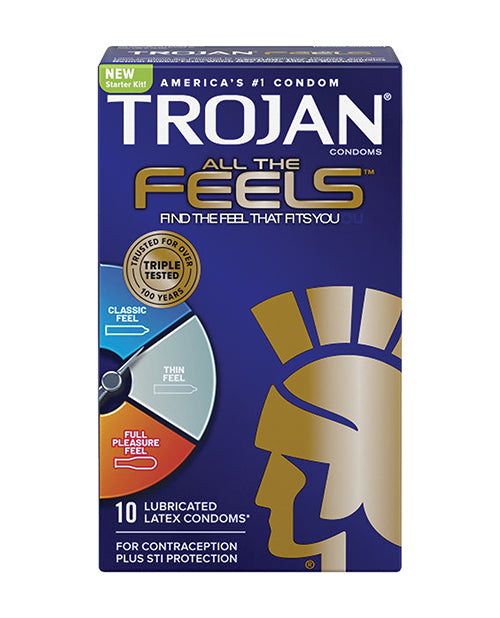 Trojan All the Feels Condoms - Pack of 10