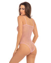 Rene Rofe Undone See Through Bodysuit - Rose