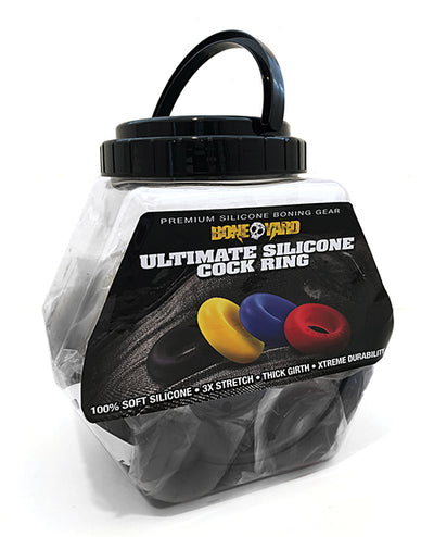 Boneyard Ultimate Ring Black - Fishbowl of 50 pcs