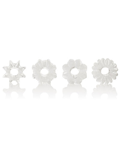 Basic Essentials Rings - Clear Set of 4