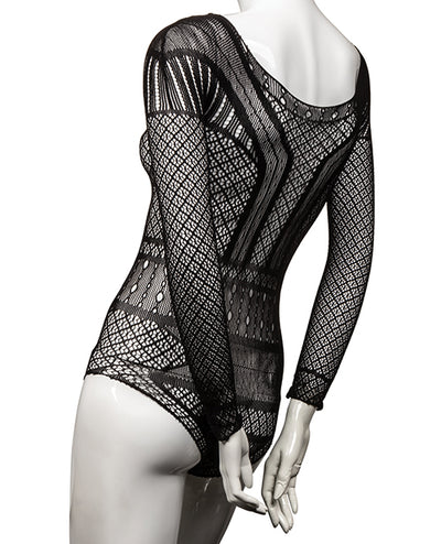 Scandal Off the Shoulder Body Suit - Black