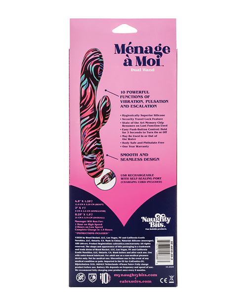 Naughty Bits Ménage à Moi Dual Wand - Multi Color