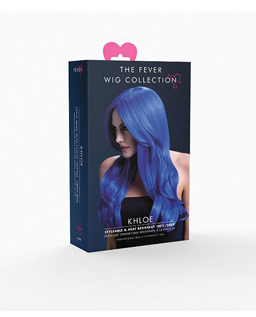 Smiffy The Fever Wig Collection Khloe - Neon Blue