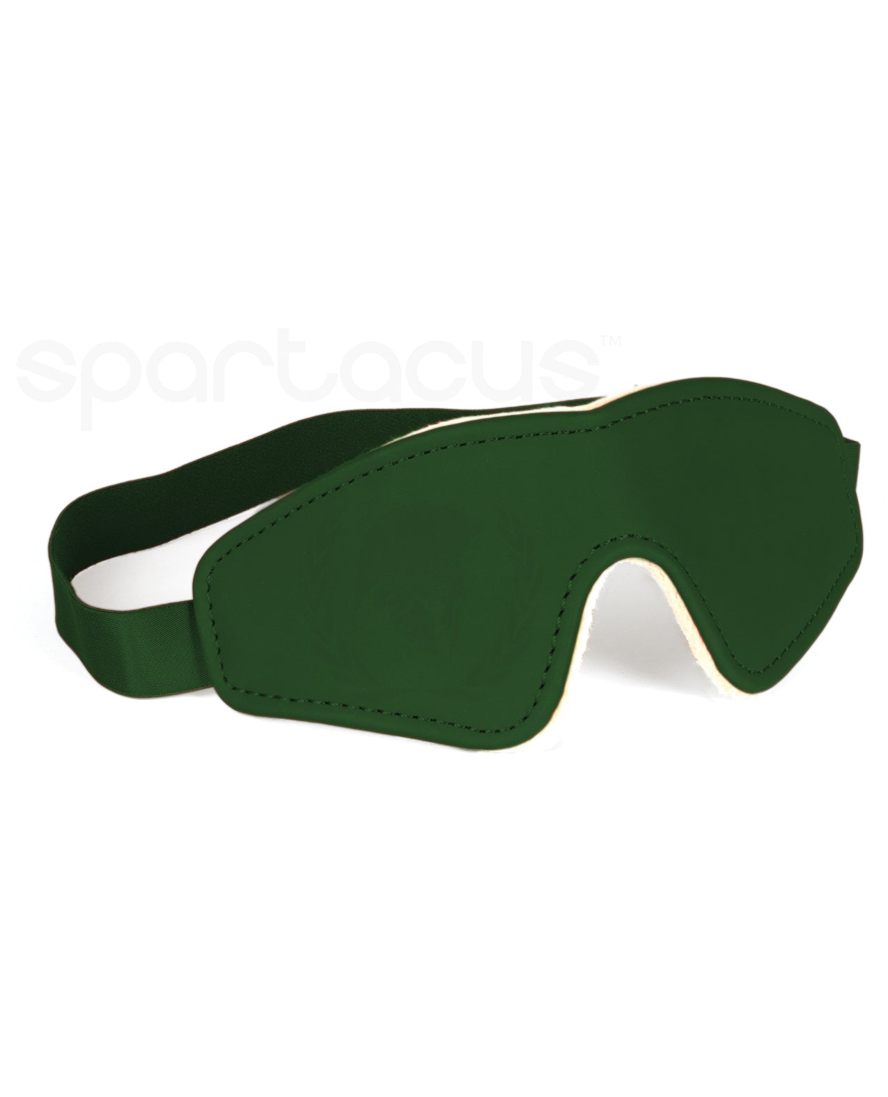 Spartacus PU Blindfold w/Plush Lining - Green