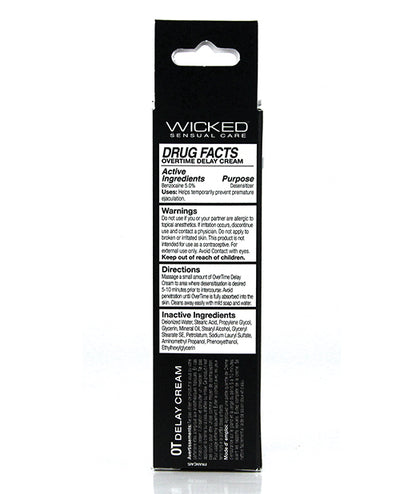 Wicked Sensual Care Overtime Delay Cream/Prolonger For Men - 1 oz