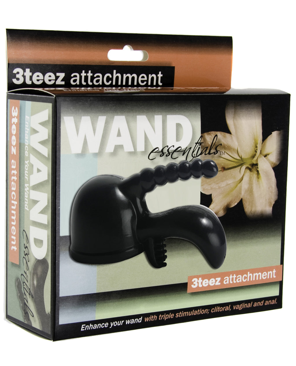 Wand Essentials 3 Teez Wand Attachment - Black, Massage Products - The Fallen Angel