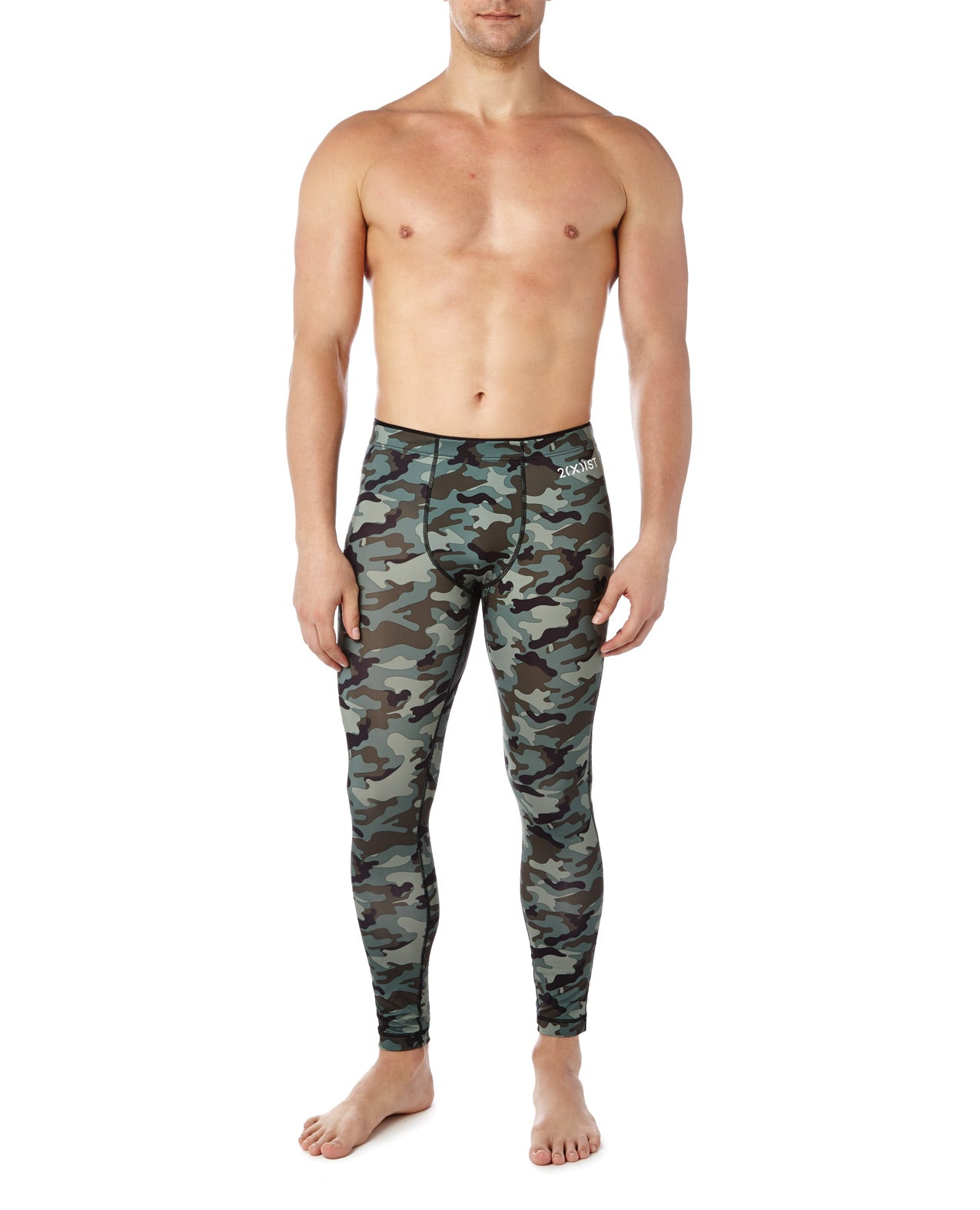 2XIST Performance Legging - Green Camo