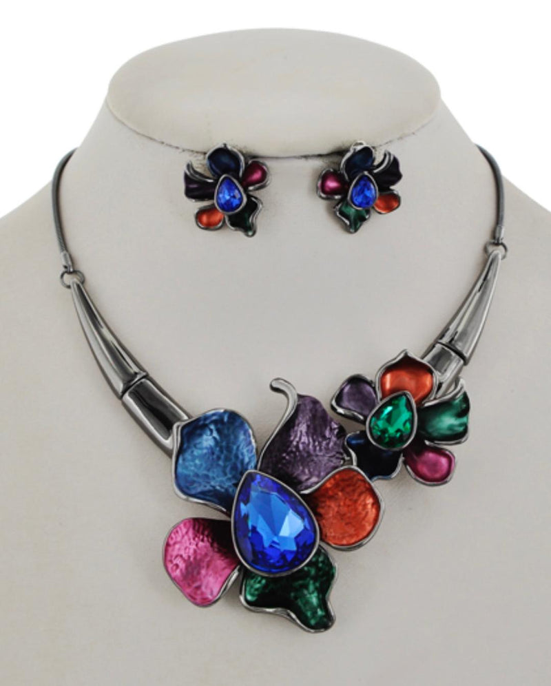 Flora Statement Necklace & Earring Set