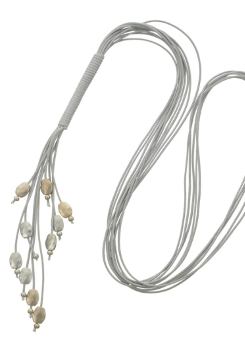 Lucy long necklace - grey