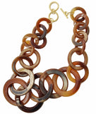 Mila necklace & earring set / brown
