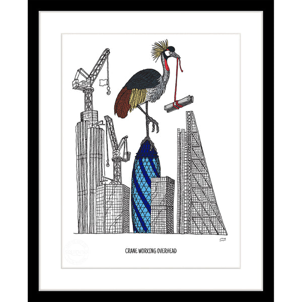 Art Print: Crane Working Overhead