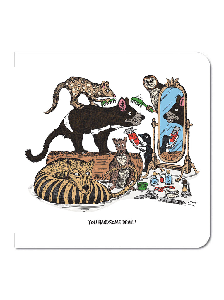 Greeting card: Tasmanian Devil