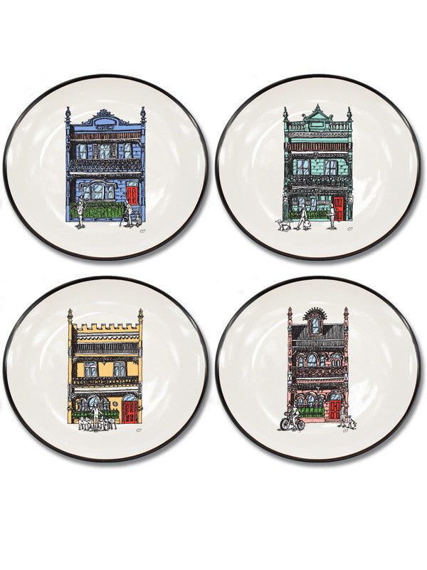 Inner City Collection Set of 4 Canapé Plates