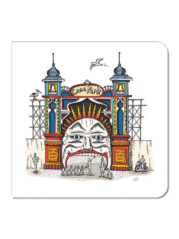 Melbourne Luna Park Greeting Card