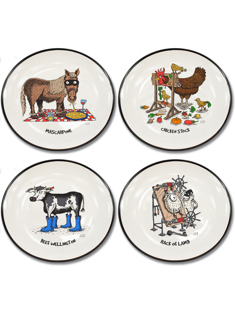 Moveable Feast Collection Second Set of 4 Canapé Plates