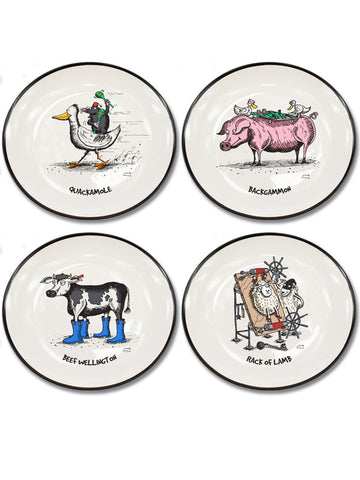 Moveable Feast Collection Set of 4 Canapé Plates