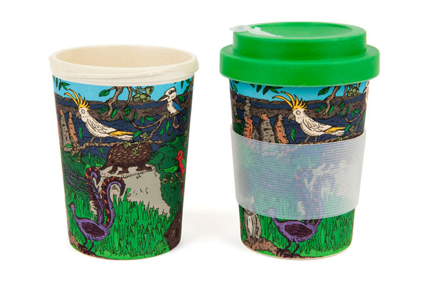 Eco-Bamboo fibre Keep Cups: Australian wildlife
