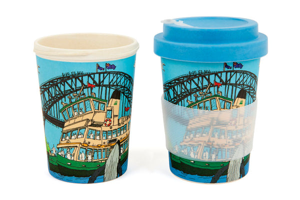 Eco-Bamboo fibre Keep Cups: Sydney Harbour