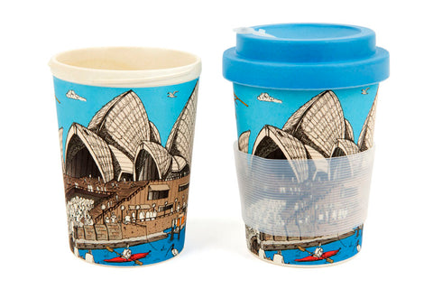 Eco-Bamboo fibre Keep Cups: Sydney Opera House