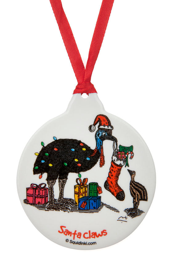 Porcelain Christmas Decoration: Santa Claws