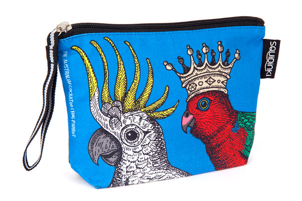 Cosmetic Bag: Cockatoo & King Parrot