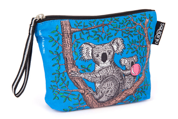 Cosmetic Bag: Koalas in a Gum tree