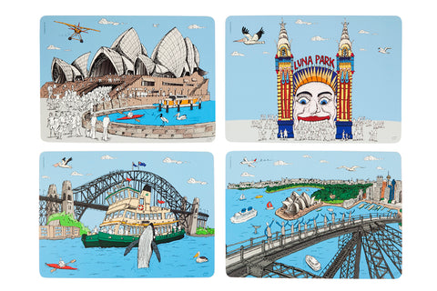 Placemat Set: Sydney Harbour Collection