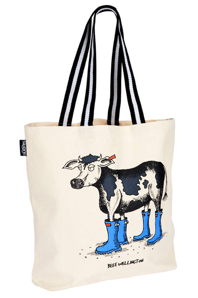 Cotton Tote Bag: Beef Wellington