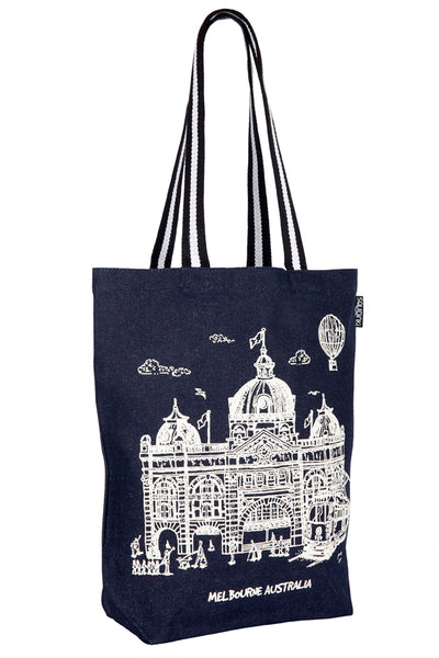 Denim Tote Bag: Melbourne