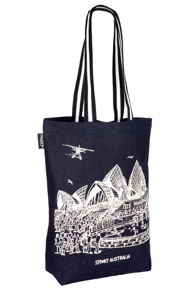 Denim Tote Bag: Sydney