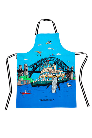 Cotton Apron: Sydney Harbour