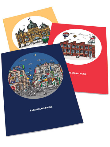 Melbourne Set of 3 Notebooks
