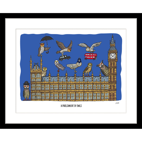 Art Print: A Parliament of Owls