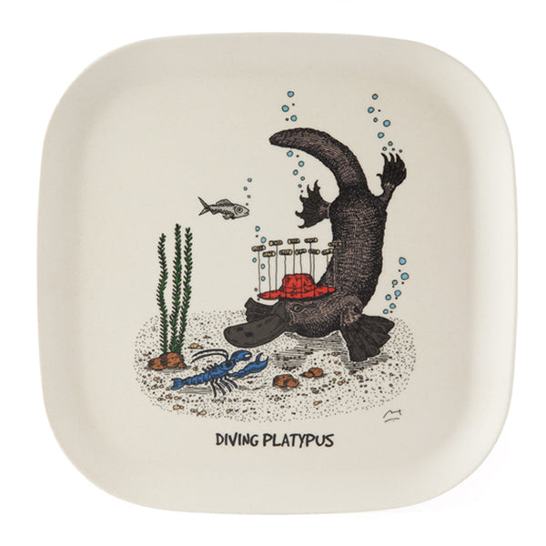 Eco-bamboo fibre trays: Diving Platypus