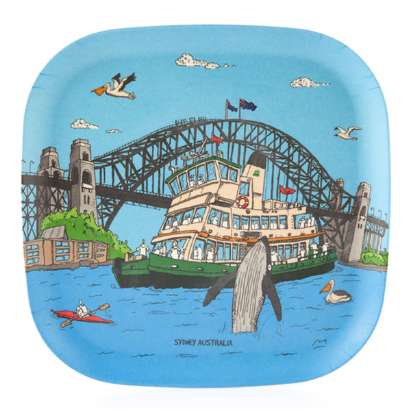 Eco-Bamboo fibre trays: Sydney Harbour