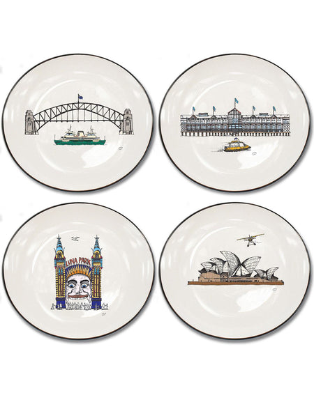 Sydney Harbour Collection Set of 4 Canapé Plates