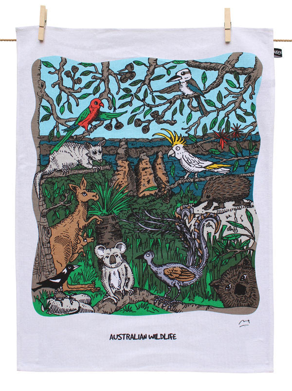 Australian Wildlife Tea Towel