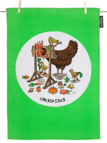 Chicken Stock Tea Towel