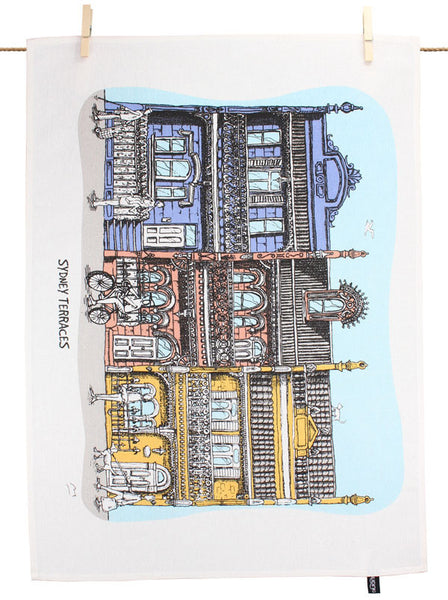 Sydney Terraces Tea Towel