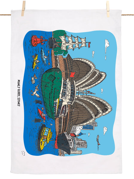 Manly Ferry, Sydney Tea Towel
