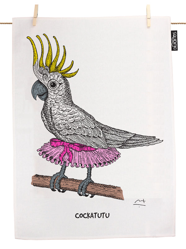 Australian Cockatutu Tea Towel