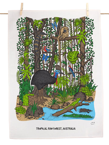 Tropical Rainforest Tea Towel
