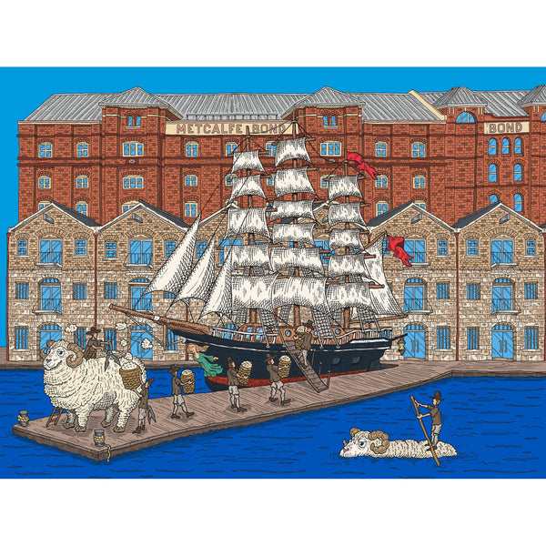 Large Canvas Prints: Wool Clipper