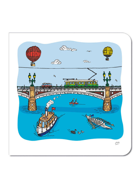 Yarra River Greeting Card