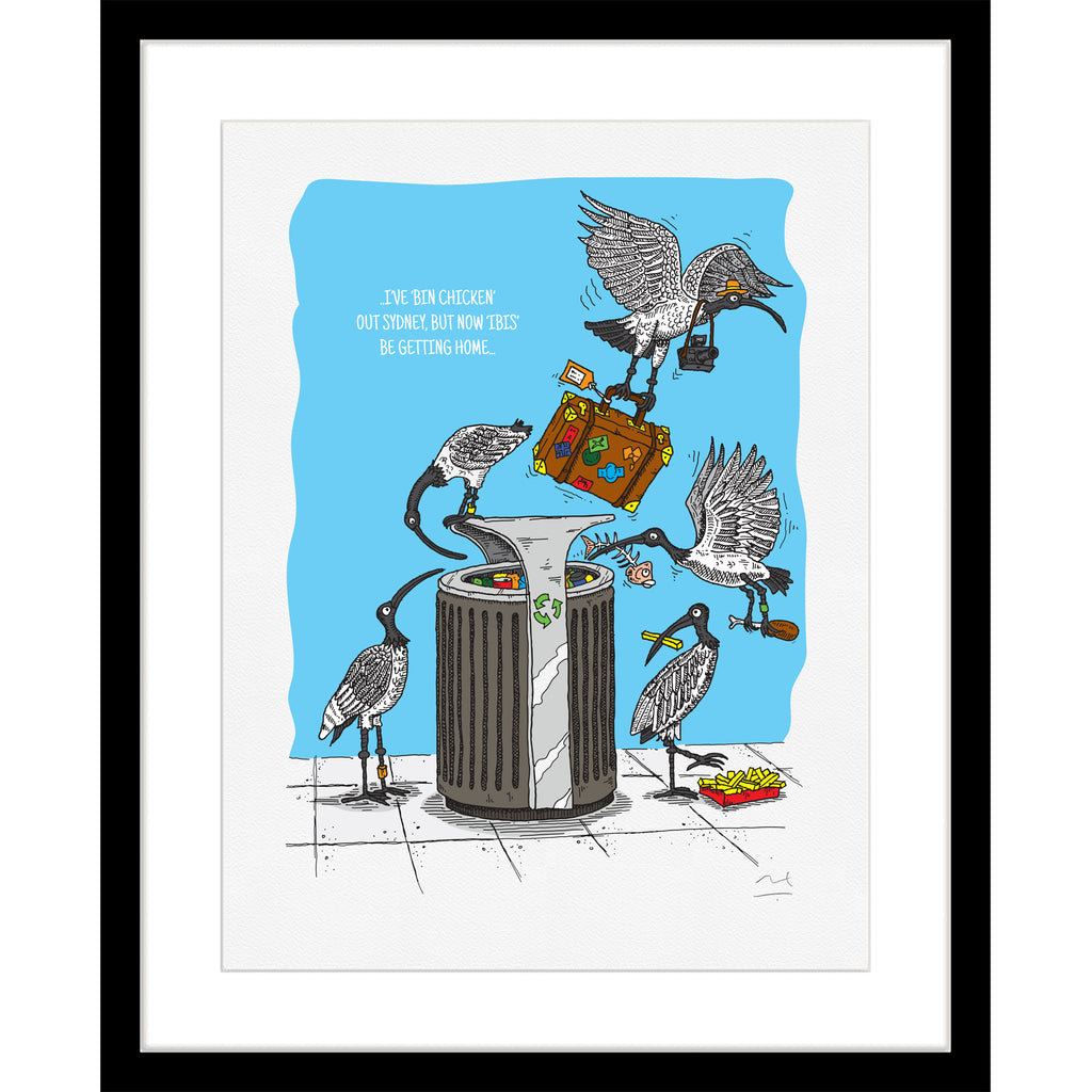 Limited Edition Art Print: Bin Chicken