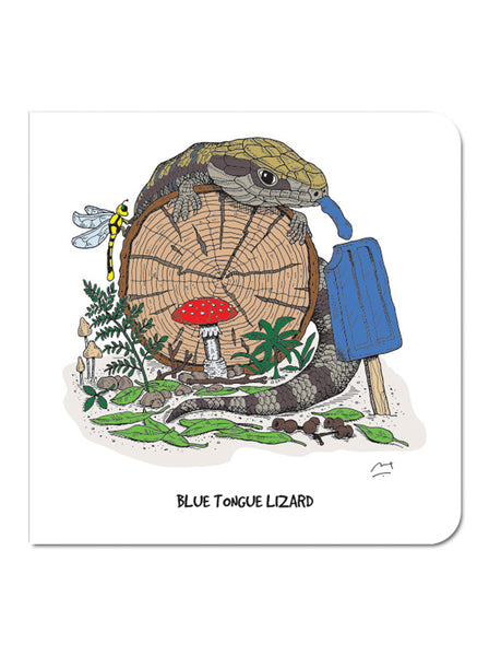 Greeting Card: Blue Tongue Lizard